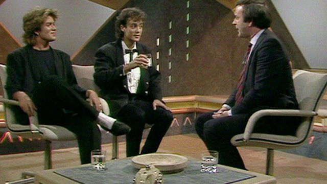 Wham appearing on the Wogan chat show