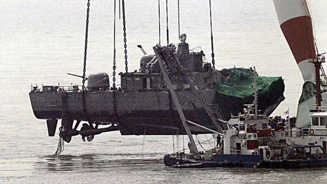 天安舰爆沉导致了46名韩国官兵死亡,但朝鲜坚决否认跟此事有任何关系
