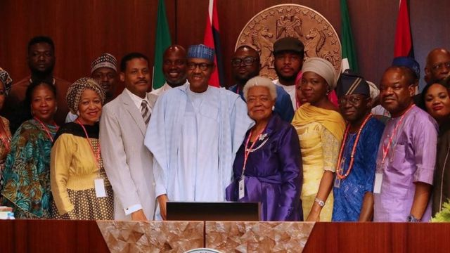 ...a ranar ce Shugaba Muhammadu Buhari ya karbi bakuncin iyalan gidan mai fafutikar kwato 'yancin bakaken fata a Amurka, marigayi Martin Luther King, a fadarsa da ke Abuja. Ziyarar ta janyo ce-ce-ku-ce daga bisani.