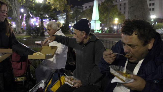 Personas en situación de calle en Buenos Aires