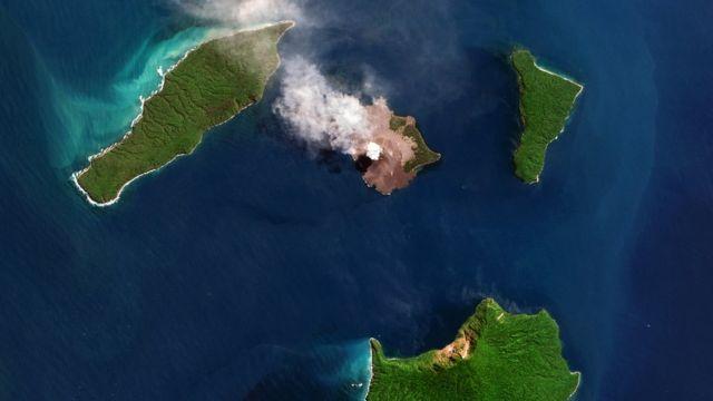 Vulcão Anak Krakatau. Foto: Agosto 2018
