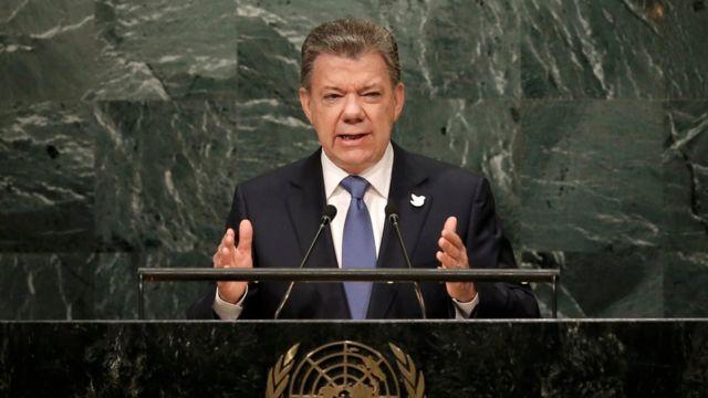 Juan Manuel Santos habla ante la Asamblea General de la ONU