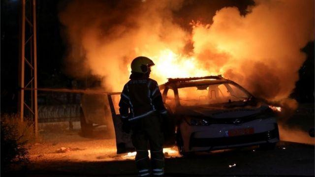 Столкновения в городе Лод в среду