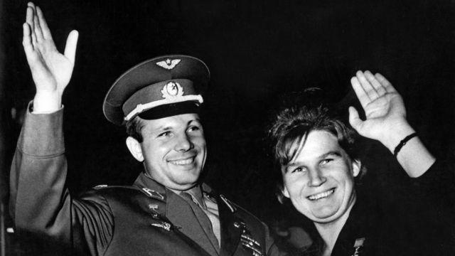 Yuri Gagarin and Valentina Tereshkova
