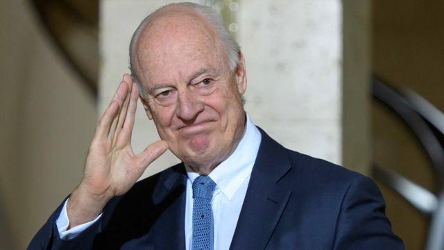 مبعوث الأمم المتحدة الخاص لسوريا، ستافان دي ميستورا، يرحب باتفاق وقف إطلاق النار الدي ترعاه روسيا وتركيا