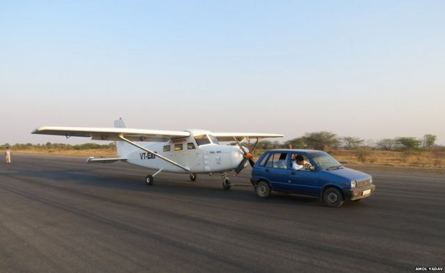 Car with plane