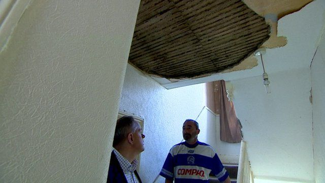 BBC reporter and tenant in low quality bedsit