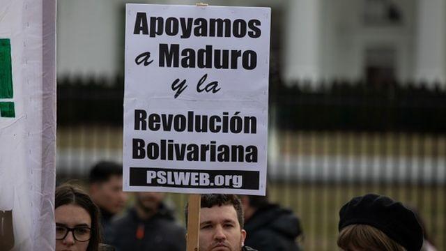 Simpatizantes de Maduro en Washington