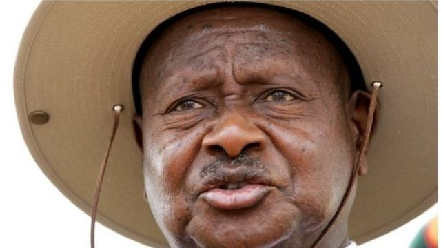 """""""Tutatumia sheria ya Musa ; jicho kwa jicho na jino kwa jino. Mtu yeyote atakayewauwa watu wengine atakufa pia ,"""" Alisema Museveni."""
