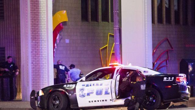 Полицейская машина в Далласе