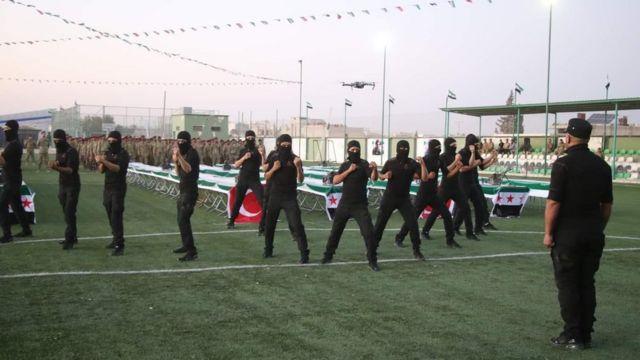 Бойцы Сирийской национальной армии