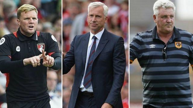 Eddie Howe, Alan Pardew y Steve Bruce