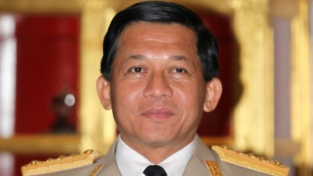 General Min Aung Hlaing pictured on 10 january 2012