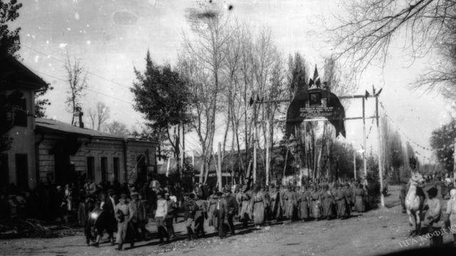 1927-жылдын 7-ноябрындагы Пишпектеги демонстрация .