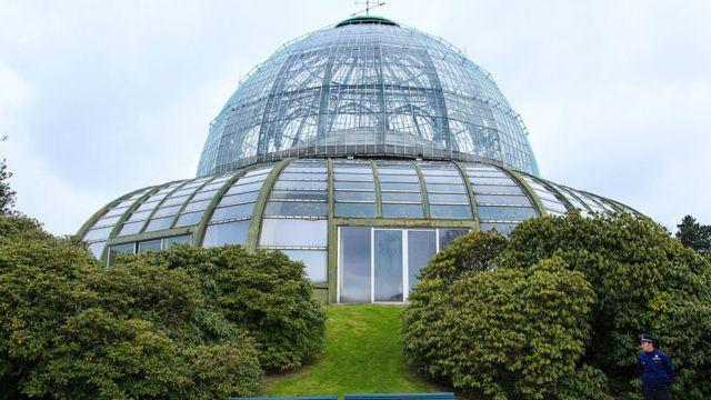 En los jardines del Palacio Real de Laeken, Leopoldo II ordenó construir este invernadero para celebrar la adquisición del Congo.