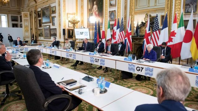 Reunião do G7 em Londres.