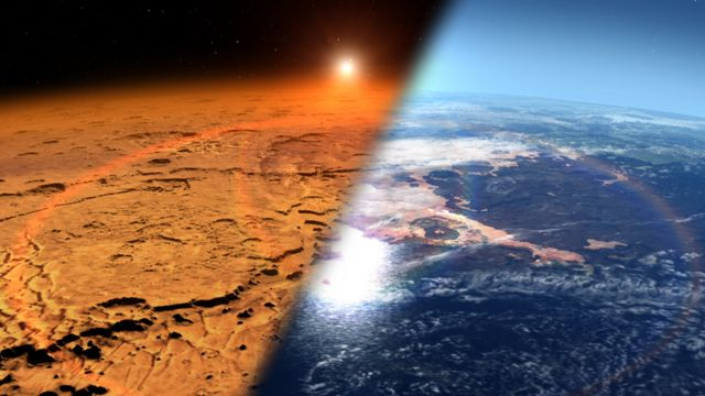 Два Марса, взгляд художника