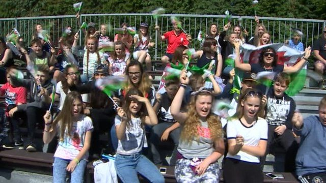 Pupils from Cwmtawe Community School