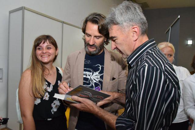 Французский писатель Фредерик Бегбедер на Форуме издателей во Львове, 19 сентября 2018 года