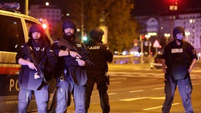 Policías en Viena