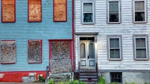 A poor neighbourhood in the US