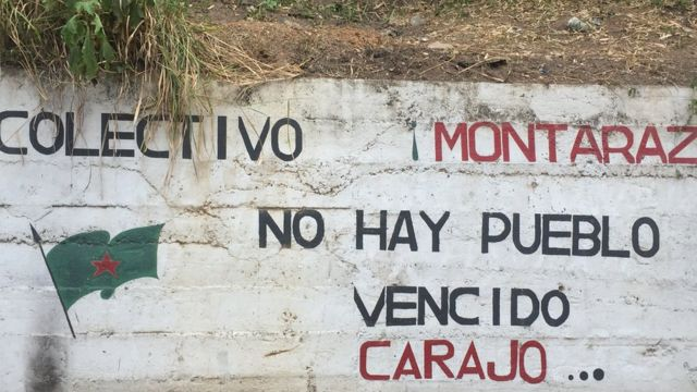 Pintada del colectivo Montaraz