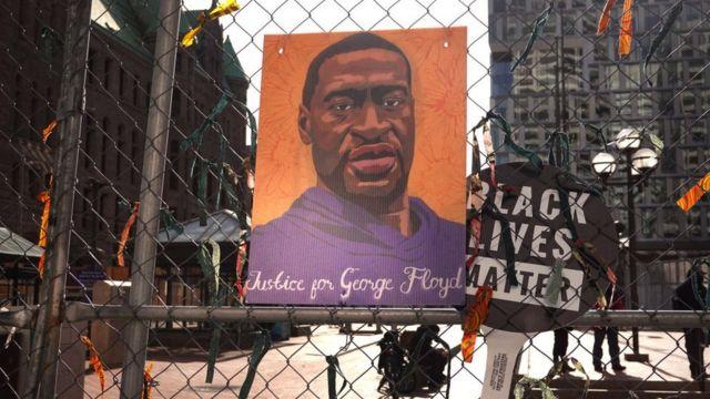 Poster of George Floyd