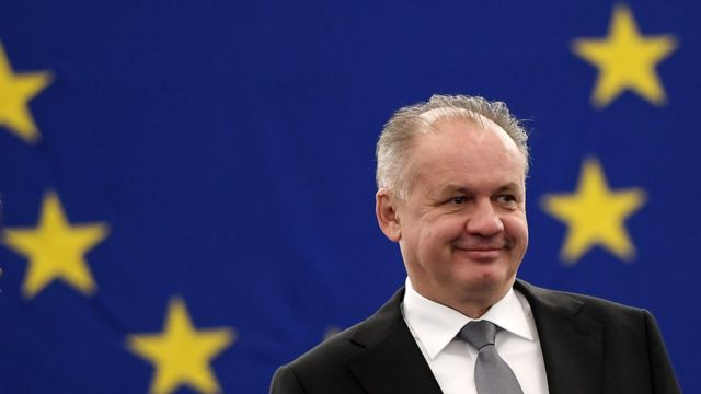Presidente de Eslovaquia, Andrej Kiska.