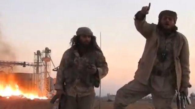 مسلحو تنظيم الدولة في تدمر
