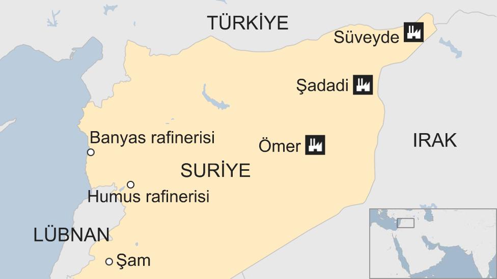 Suriye petrol sahaları