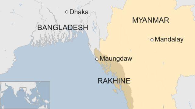 ラカイン(Rakhine)州の位置