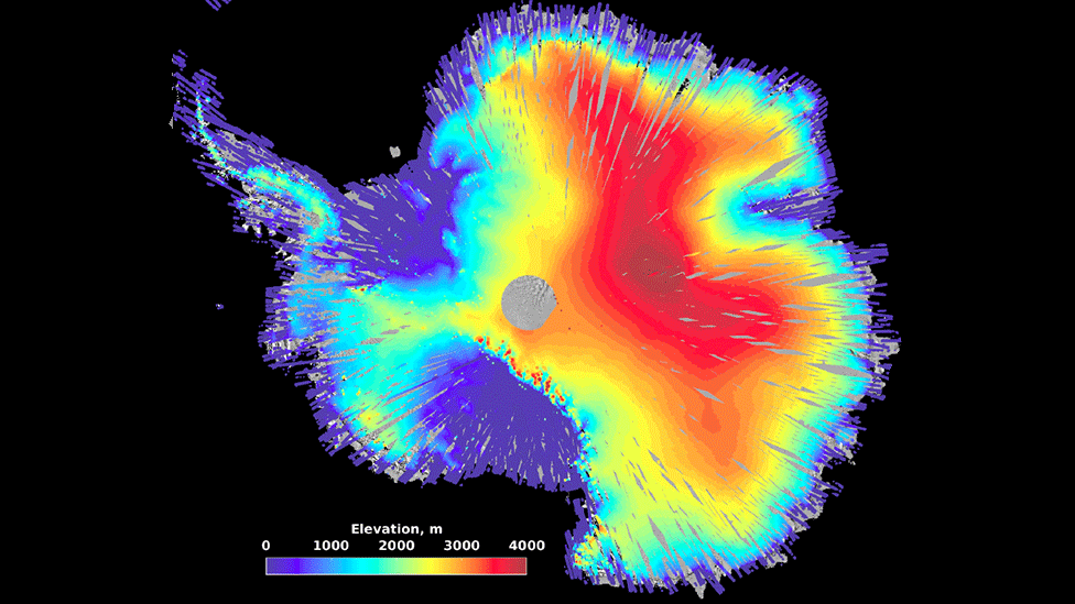 Nasa's IceSat space laser makes height maps of Earth