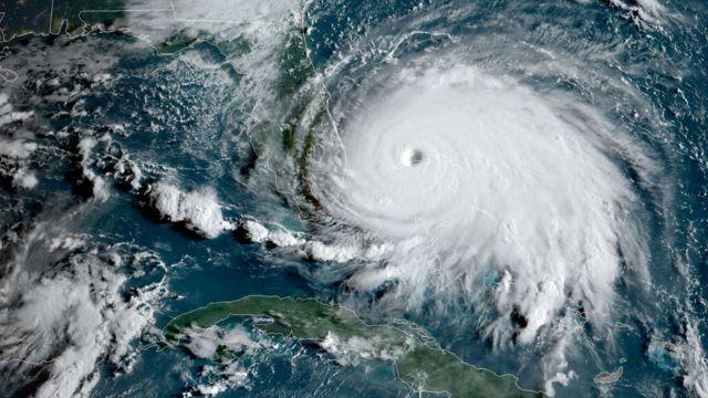 """Ураган """"Дориан"""", снимок из космоса"""