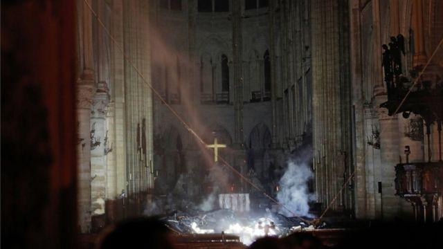 Interior de Notre Dame.