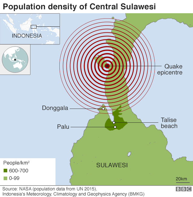 Indonesia Earthquake And Tsunami Dead Buried In Mass Grave Bbc News
