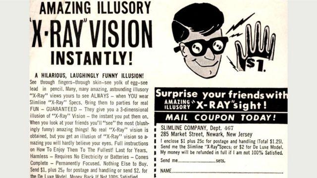 """Реклама обещала, что в """"рентгеновских очках"""" можно будет видеть сквозь одежду - но это было явным преувеличением"""