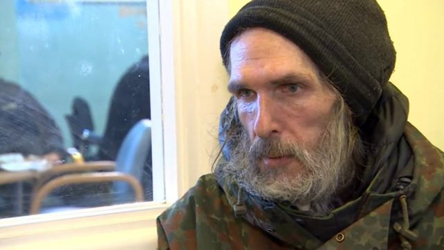 Nigel, a homeless man from Wolverhampton