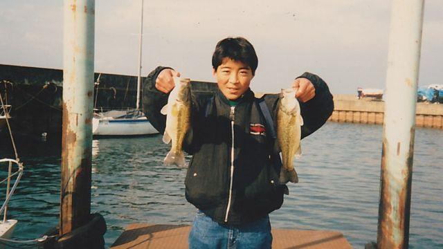 Yoshihiro Hattori photographed fishing in 1989