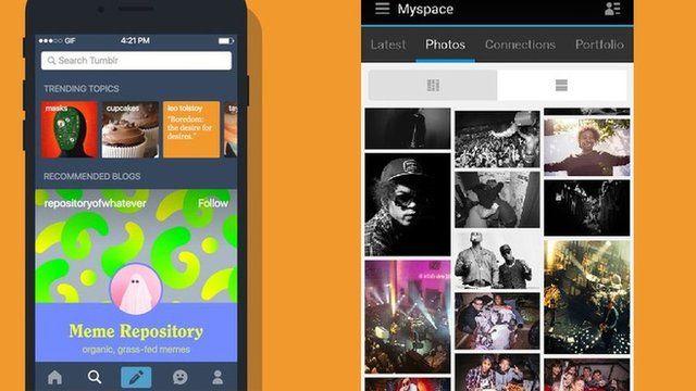 Tumblr and MySpace