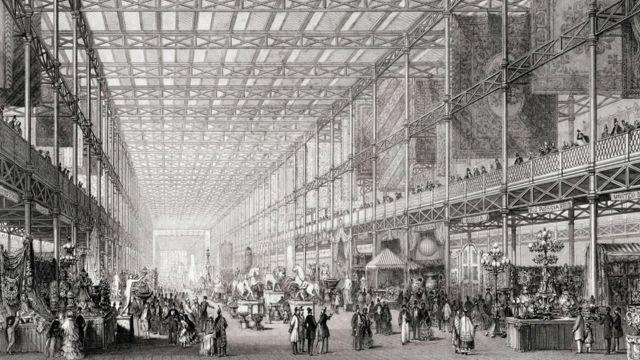 """ilustração da """"Grande Exposição das Obras da Indústria de Todas as Nações""""."""