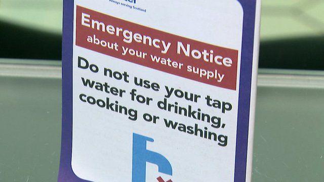 Water warning