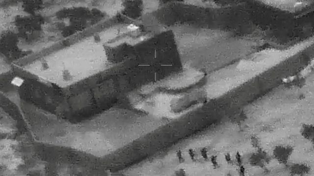 снимок с воздуха виллы, где укрывался аль-Багдади