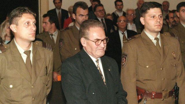 Dinko Sakic on the day of his verdict