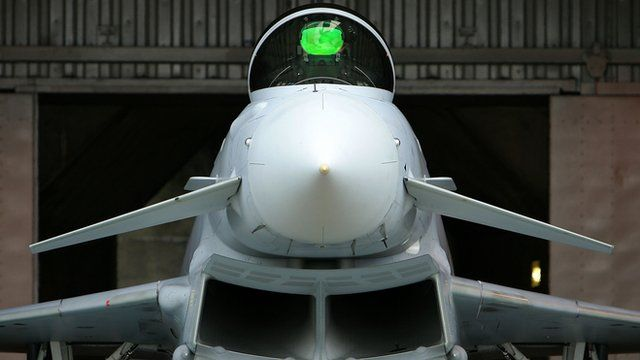 Nose of a Typhoon fighter jet