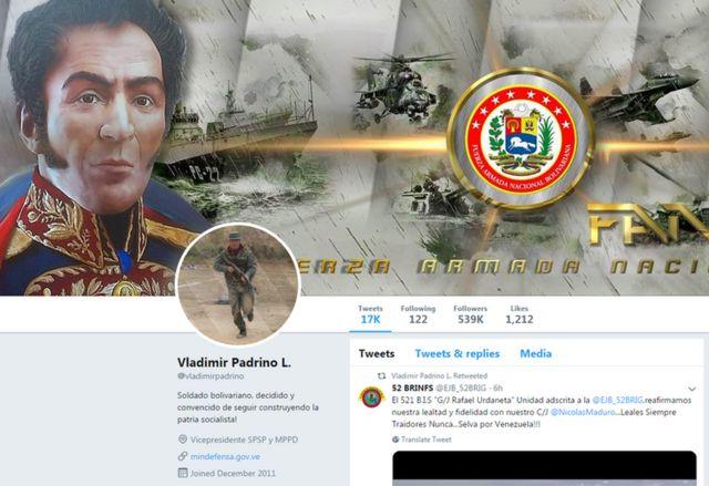 Perfil de Twitter de Padrino López