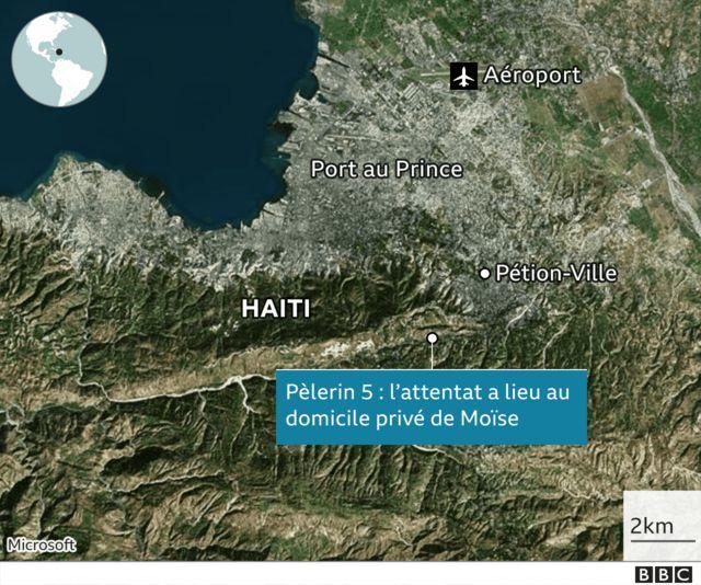 Graphique de l'assassinat du président d'Haïti, Jovenel Moïse