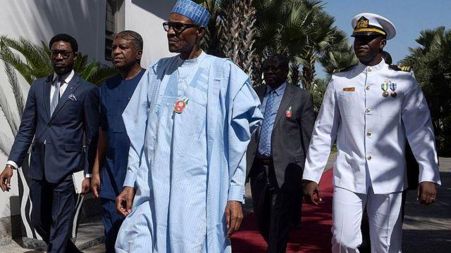Aarẹ Muhammadu Buhari pẹlu awọn adari nilu Abuja