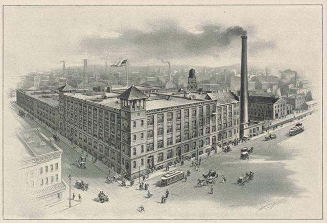 Здание The Sackett & Wilhelms Lithographing and Printing Company в Нью-Йорке