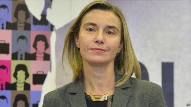 مسؤولة السياسة الخارجية في الاتحاد الأوروبي، فيديريكا موغيريني
