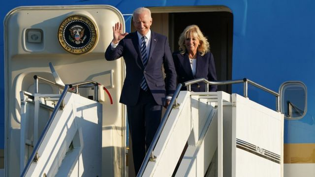 美国总统拜登的第一次海外之行是到英国参加G7峰会并访问英国。(photo:BBC)